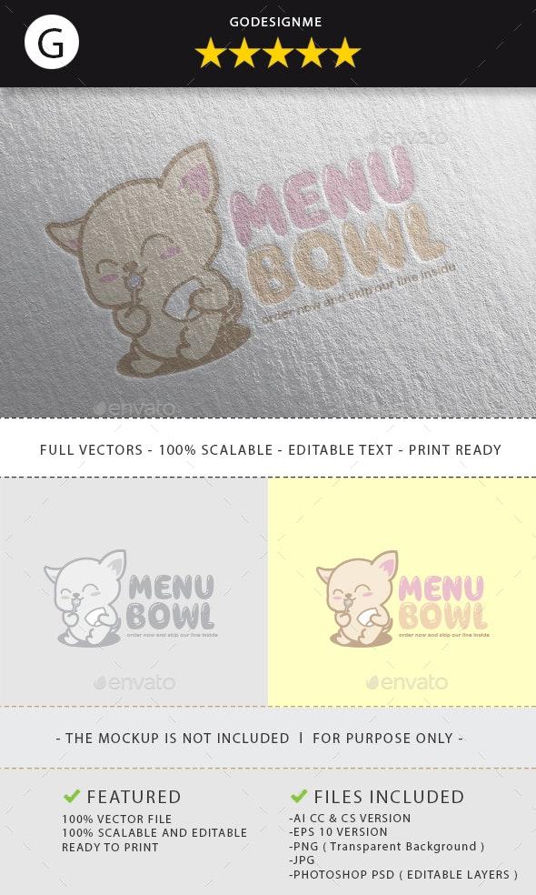 Menu Bowl Logo Design - Vector Abstract
