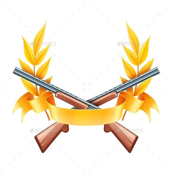 Emblem for Hunting or Shooting from Rifles. Vector Illustration. - Vectors