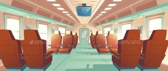 Vector Bullet Train Cabin Express Railway - Backgrounds Decorative