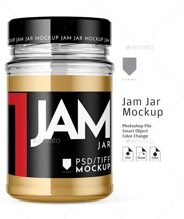 Jar Jam Mockup - Food and Drink Packaging