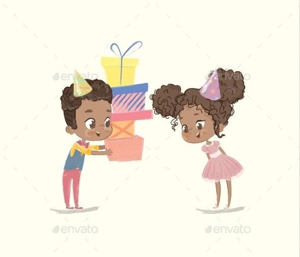 Kids Birthday Party Illustration - Birthdays Seasons/Holidays