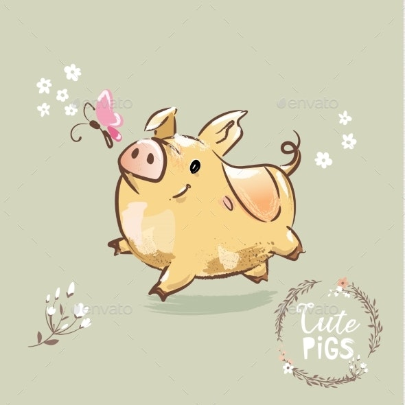 2019 Year Symbol of the Pig - Backgrounds Decorative