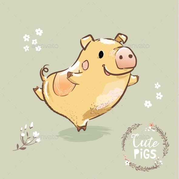 Pig Dancing - Backgrounds Decorative