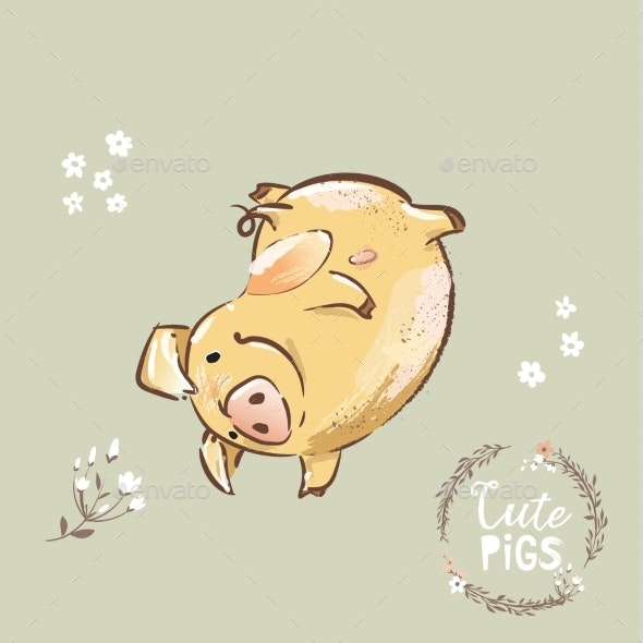 Happy Pig 2019 New Year Symbol - Backgrounds Decorative