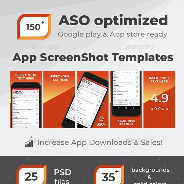 ASO Optimized App ScreenShot Templates