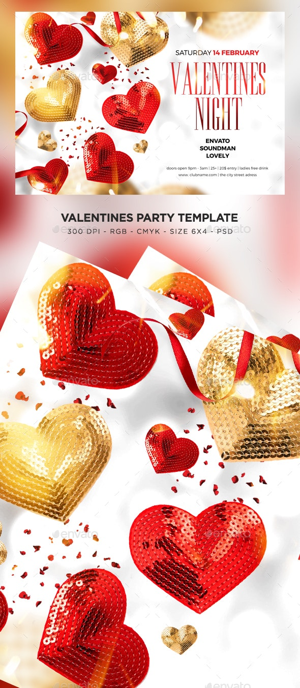 Valentines Night Flyer - Events Flyers