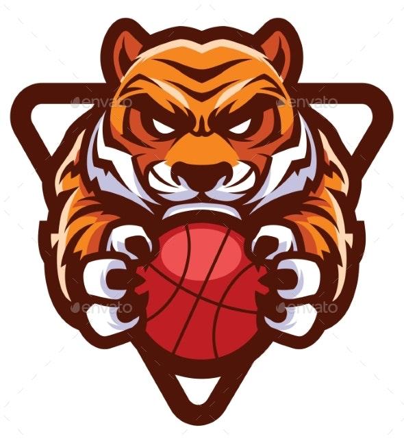 Tiger Basketball Mascot - Animals Characters