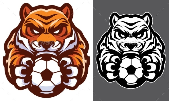 Tiger Football Soccer Mascot - Animals Characters