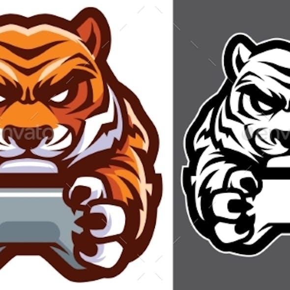 Tiger Gamer Mascot