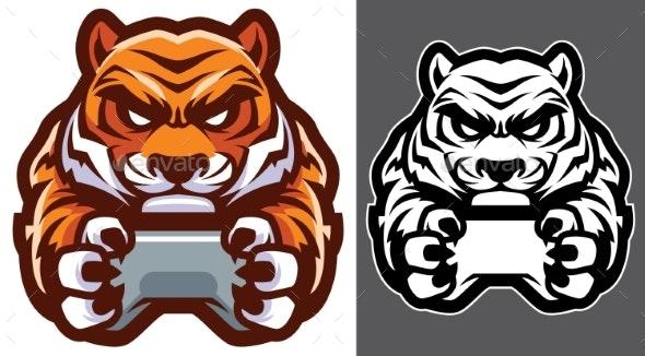Tiger Gamer Mascot - Animals Characters