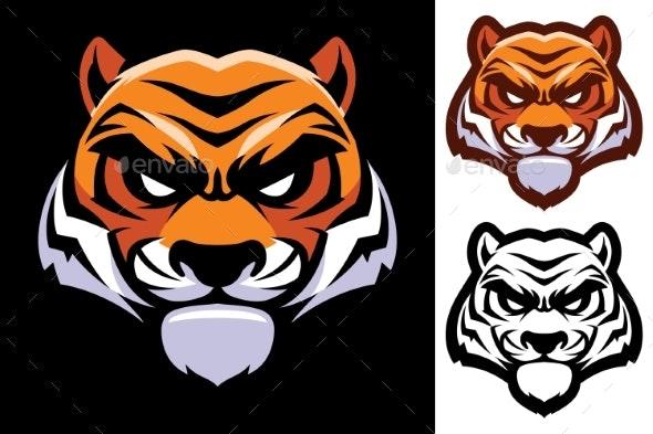 Tiger Head Mascot - Animals Characters