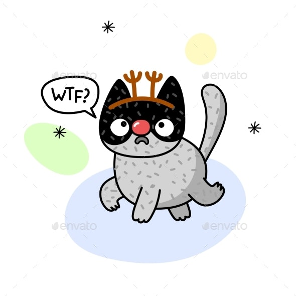 Winter Cat - Animals Characters