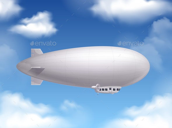 Dirigible Realistic Background - Miscellaneous Vectors