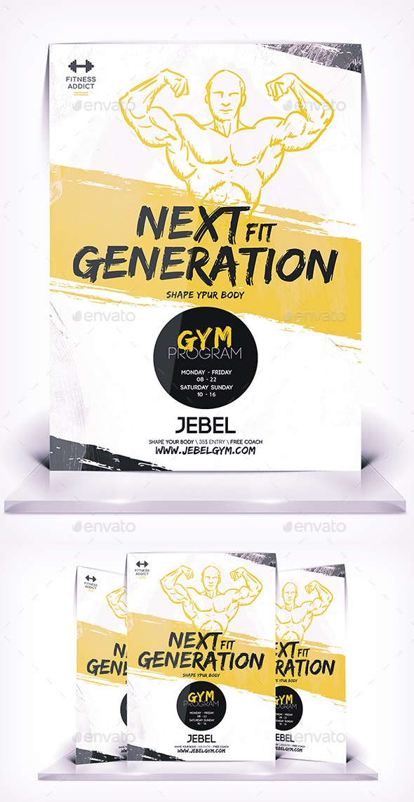 Next Fit Gym - Flyers Print Templates
