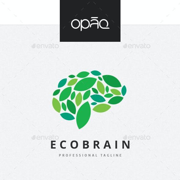Ecological Brain Leaf Logo