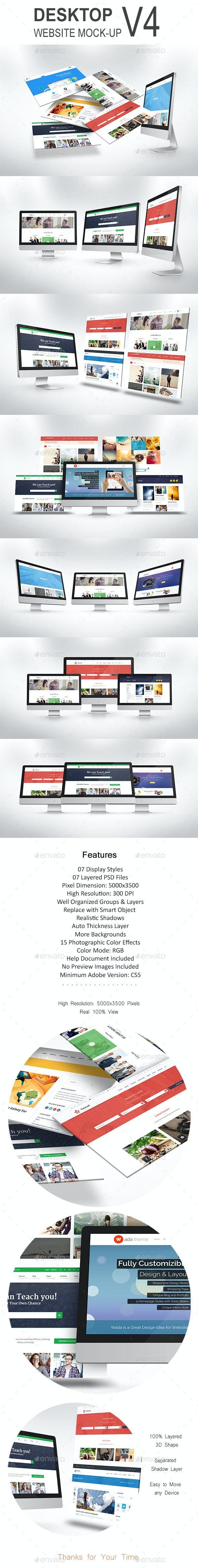 Desktop Website Mock-Up V4 - Website Displays