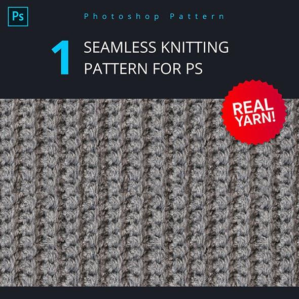 Seamless Knitting Pattern from Real Yarn