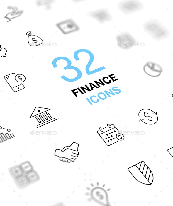Thin Line Finance Icons - Business Icons