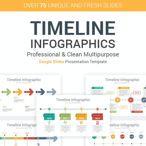 Timeline Infographics Google Slides Presentation Template diagrams