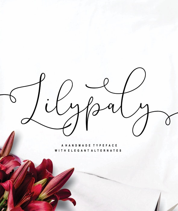Lilypaly - Handlettering Font - Calligraphy Script