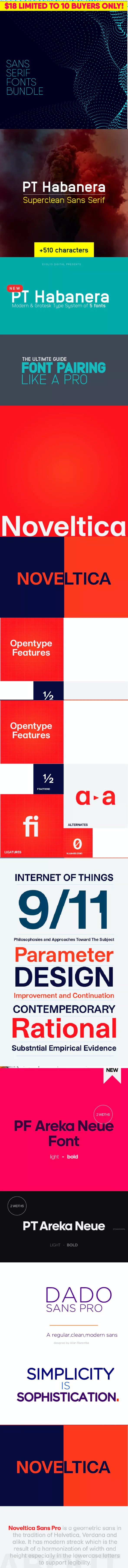 Ultimate Typography Font Bundle - Sans-Serif Fonts