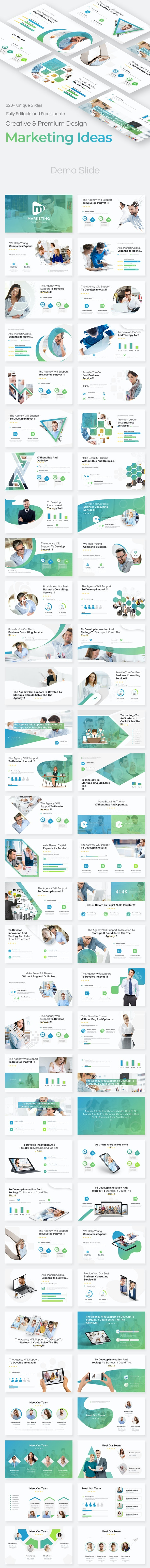 Marketing Ideas Pitch Deck Google Slide Template - Google Slides Presentation Templates