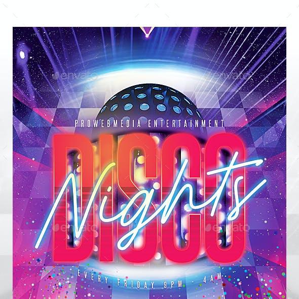 Disco Nightclub Party Flyer