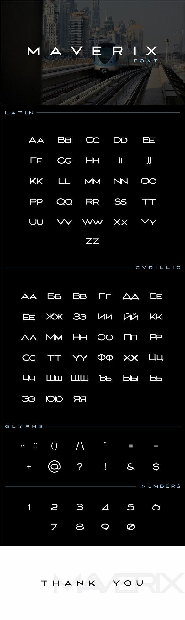 MAVERIX - Sans-Serif Fonts