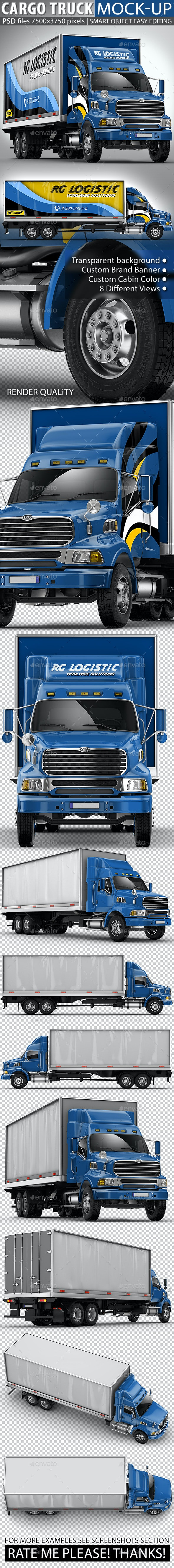 Cargo Truck Mock-Up based Ford Sterling - Vehicle Wraps Print