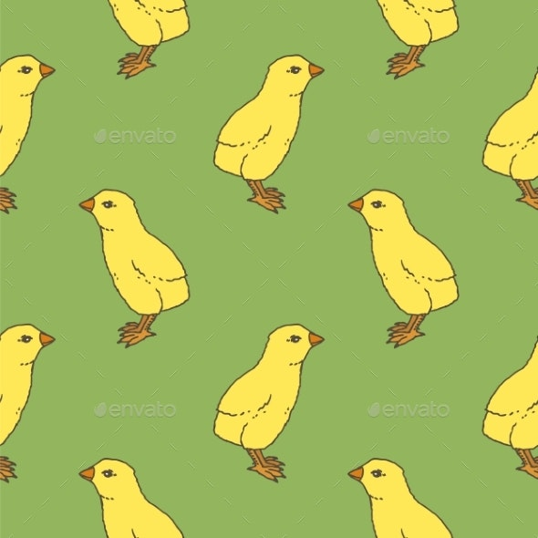 Little Chicken Seamless Pattern - Animals Characters