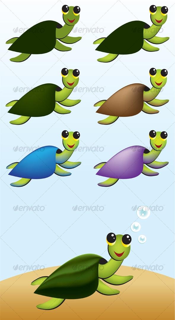 Sea Turtle - Characters Vectors