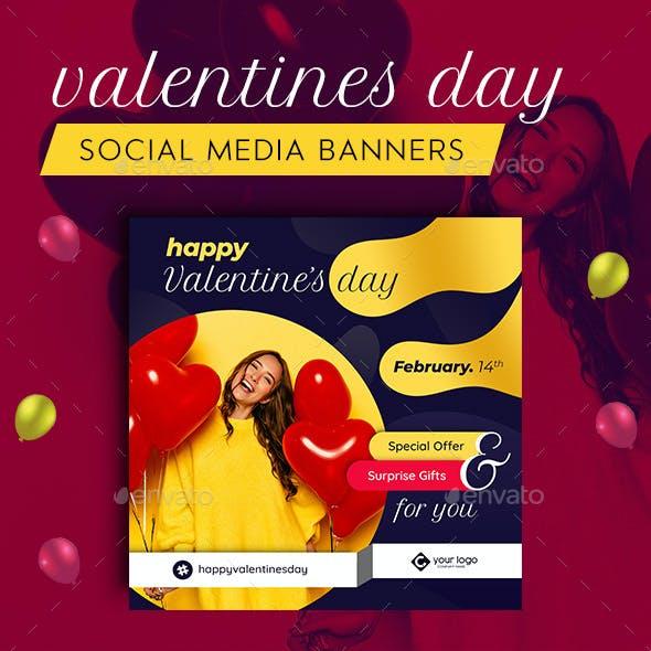 Valentines Day Facebook and Instagram Banner Set