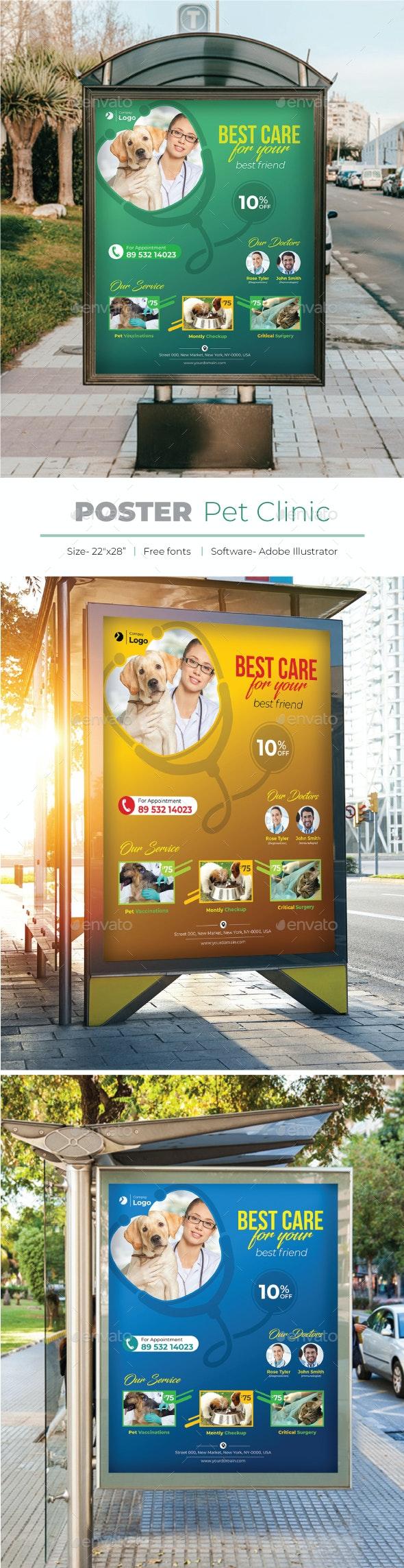Pet Clinic Poster - Signage Print Templates