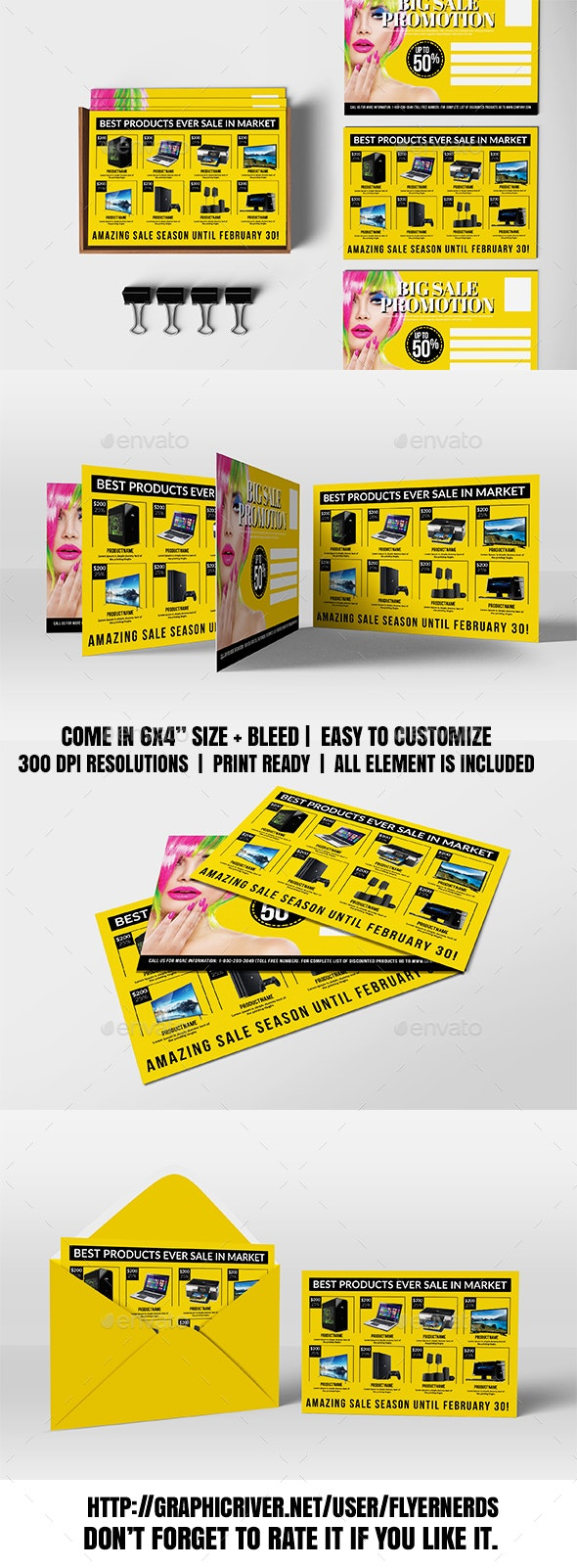 Big Sale Promotion PostCard - Cards & Invites Print Templates