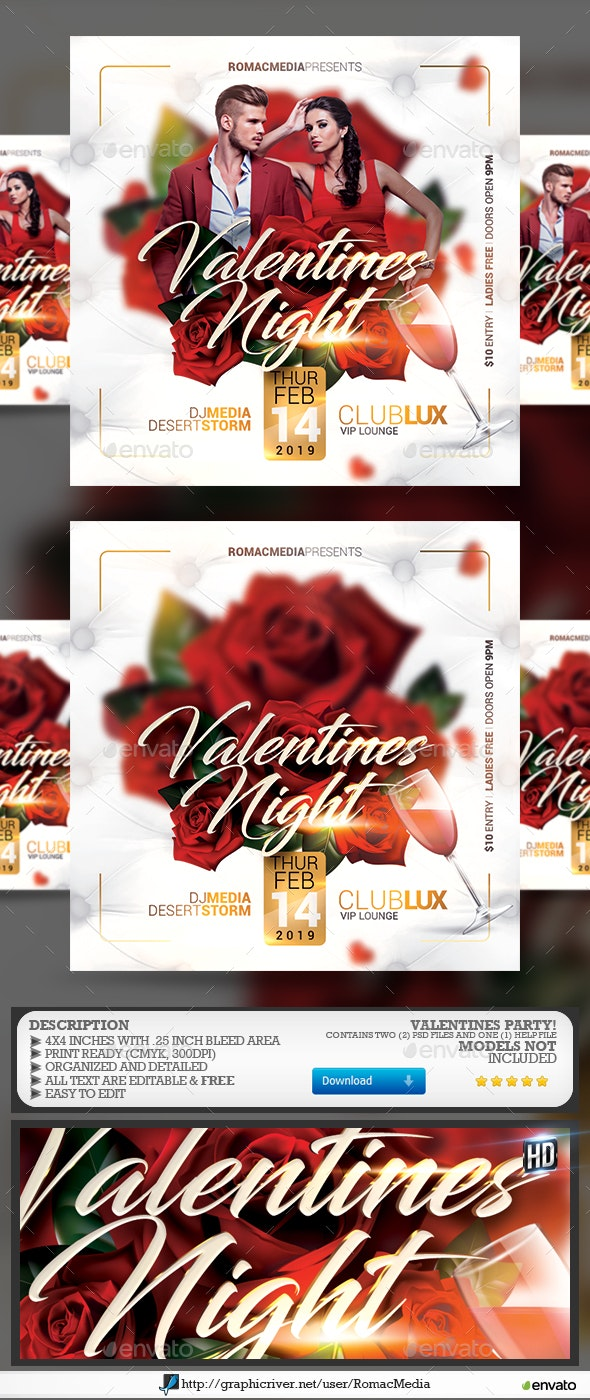 Valentines Flyer - Flyers Print Templates
