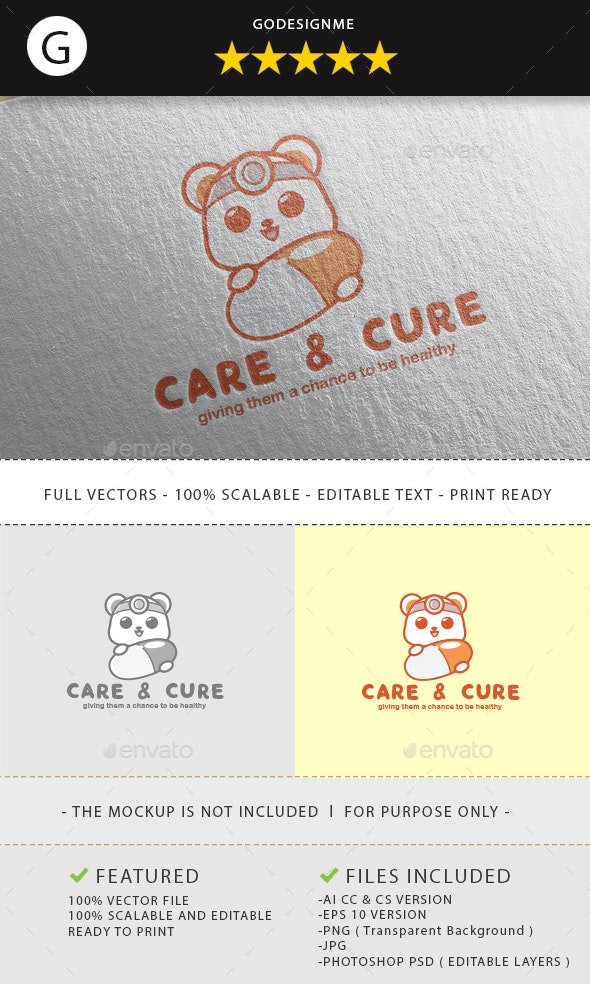 Care and Cure Logo Design - Vector Abstract
