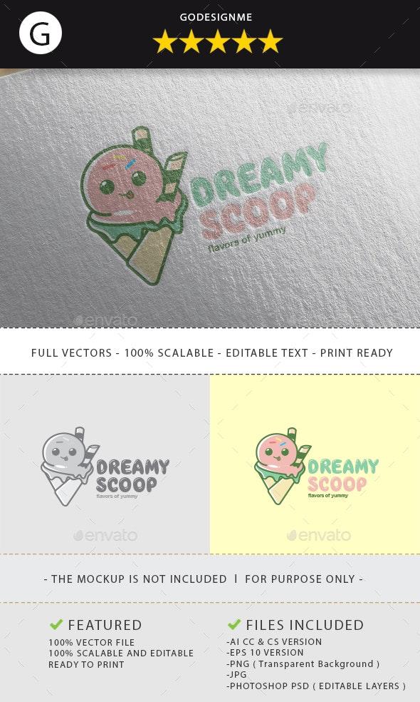 Dreamy Scoup Logo Design - Vector Abstract