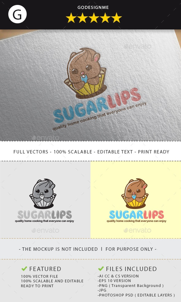 Sugarlips Logo Design - Vector Abstract