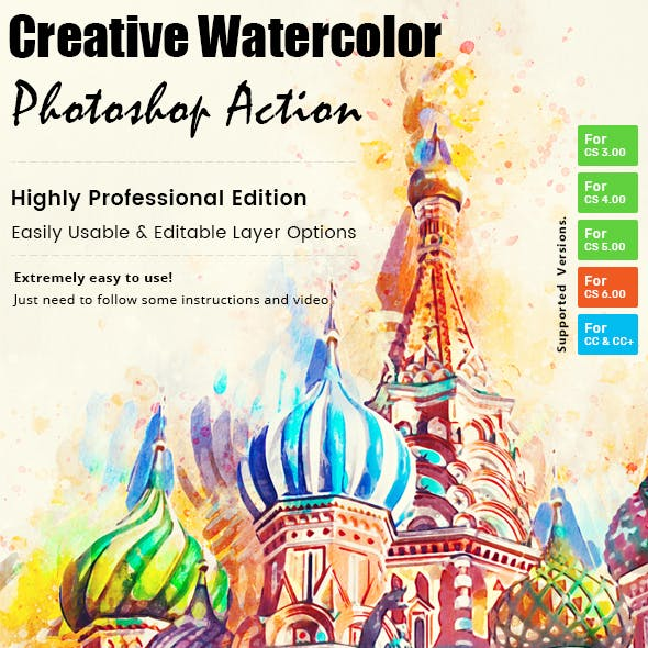 Creative Watercolor Paint Action