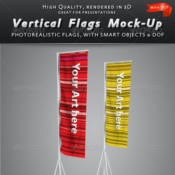 Vertical Flags Mock-Up