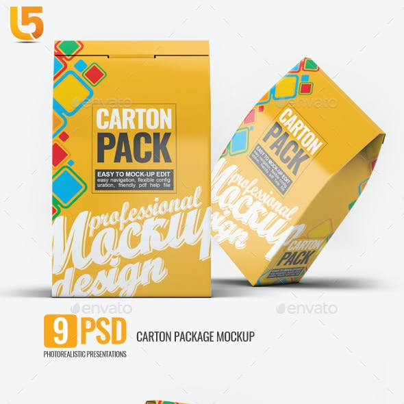 Carton Box Pack Mock-Up