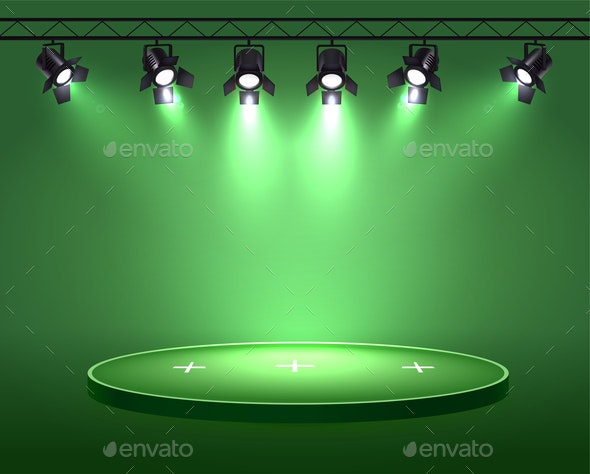 Green Spotlight Arena Composition - Miscellaneous Vectors