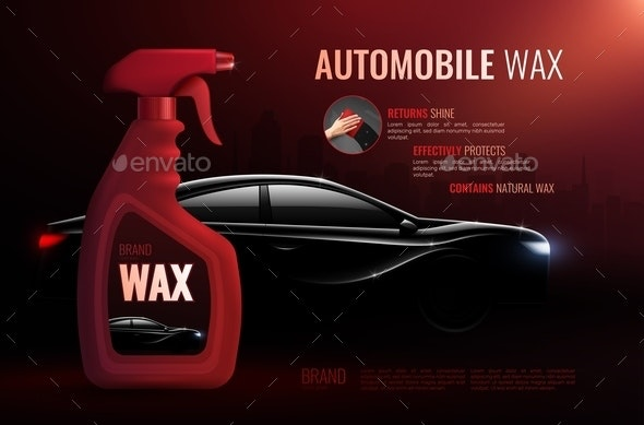 Car Care Product Advertising Composition - Miscellaneous Vectors