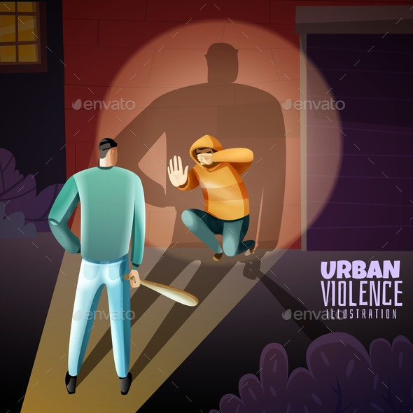 Crime Violence Poster - People Characters