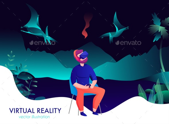 Virtual Reality Composition - People Characters