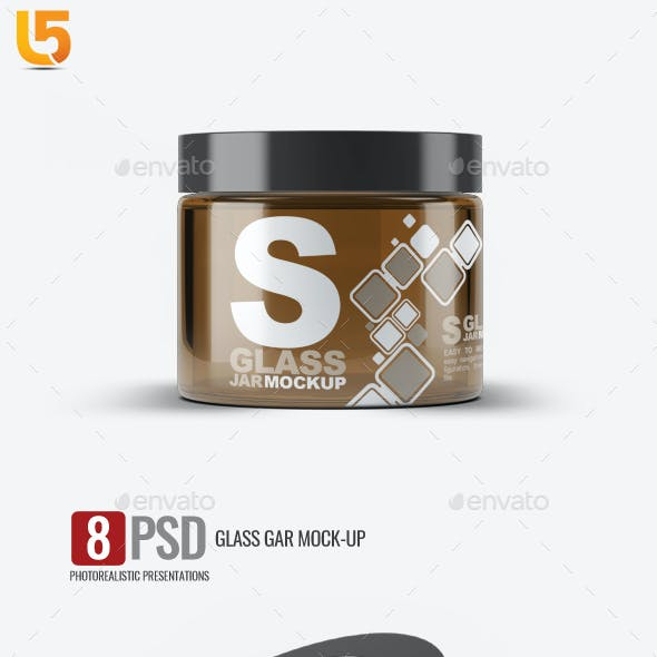 Cosmetics Glass Jar Mock-Up