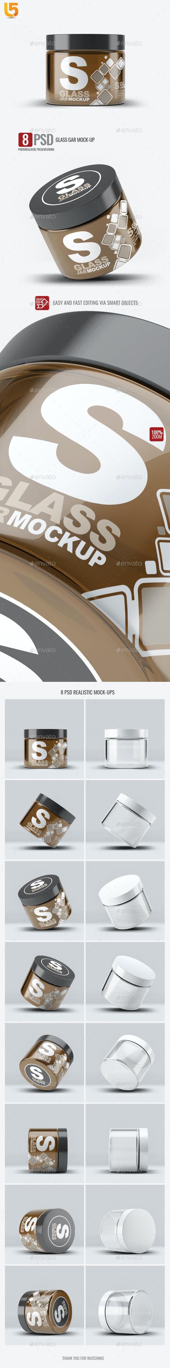 Cosmetics Glass Jar Mock-Up - Beauty Packaging