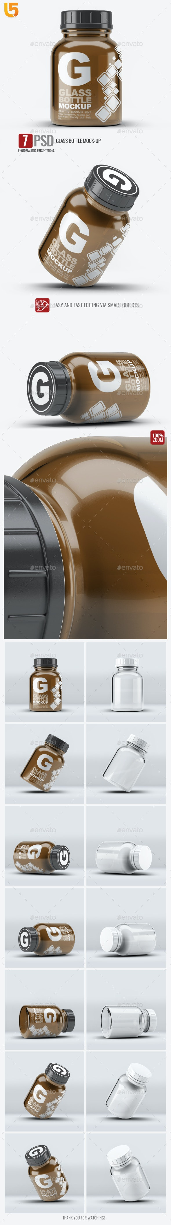 Pill Cosmetics Glass Bottle Mock-Up - Miscellaneous Packaging