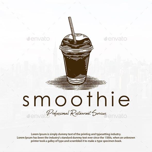 Smoothie Drink Vintage Logo