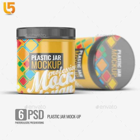 Plastic Jar Mock-Up